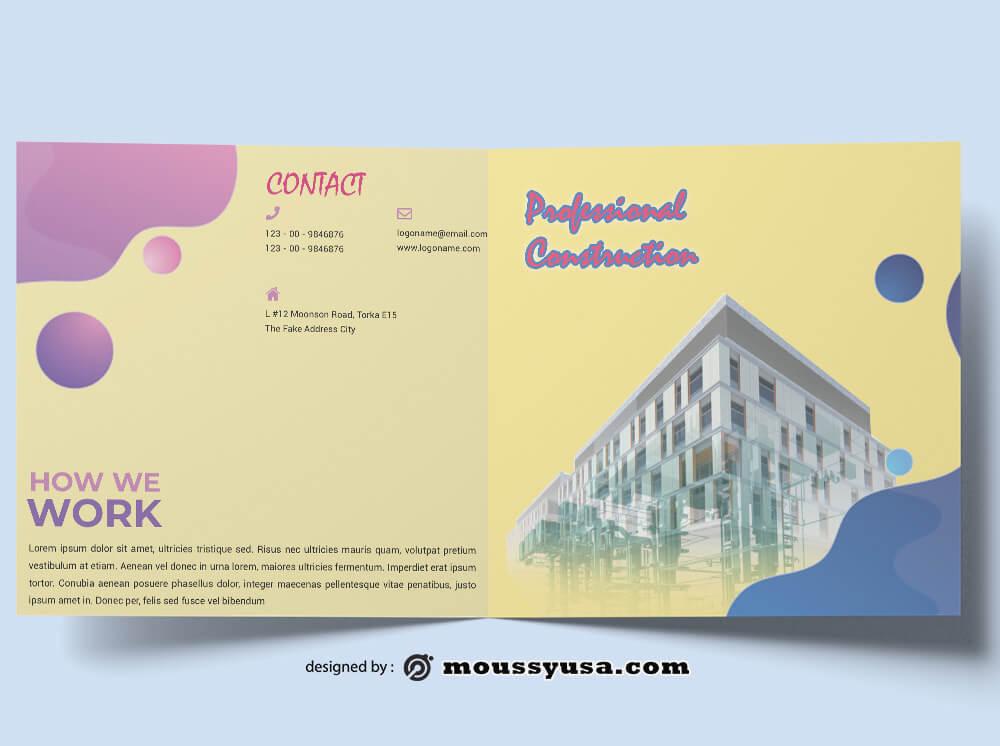 Construction Brochure templates Example