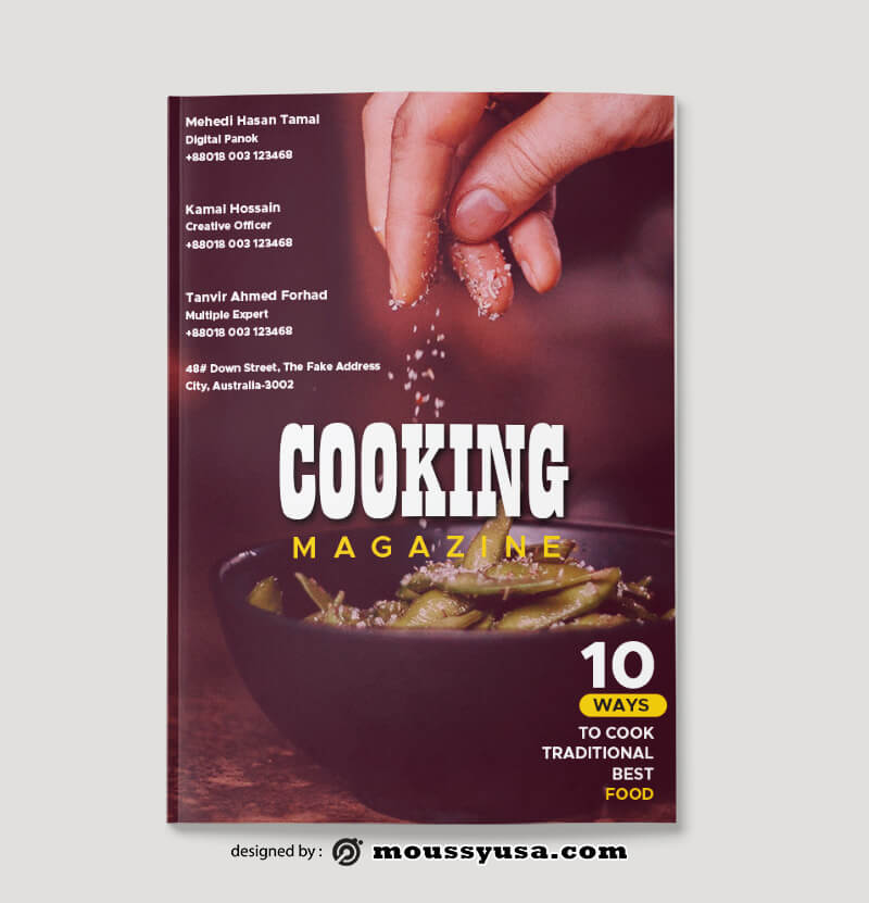 Cooking Magazine Design Ideas