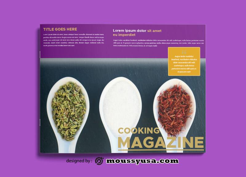 Cooking Magazine Design PSD