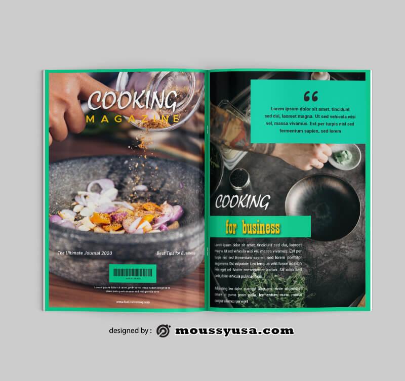 Cooking Magazine Design templates