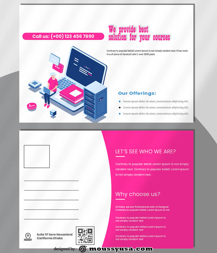 Coursus Postcard templates Design