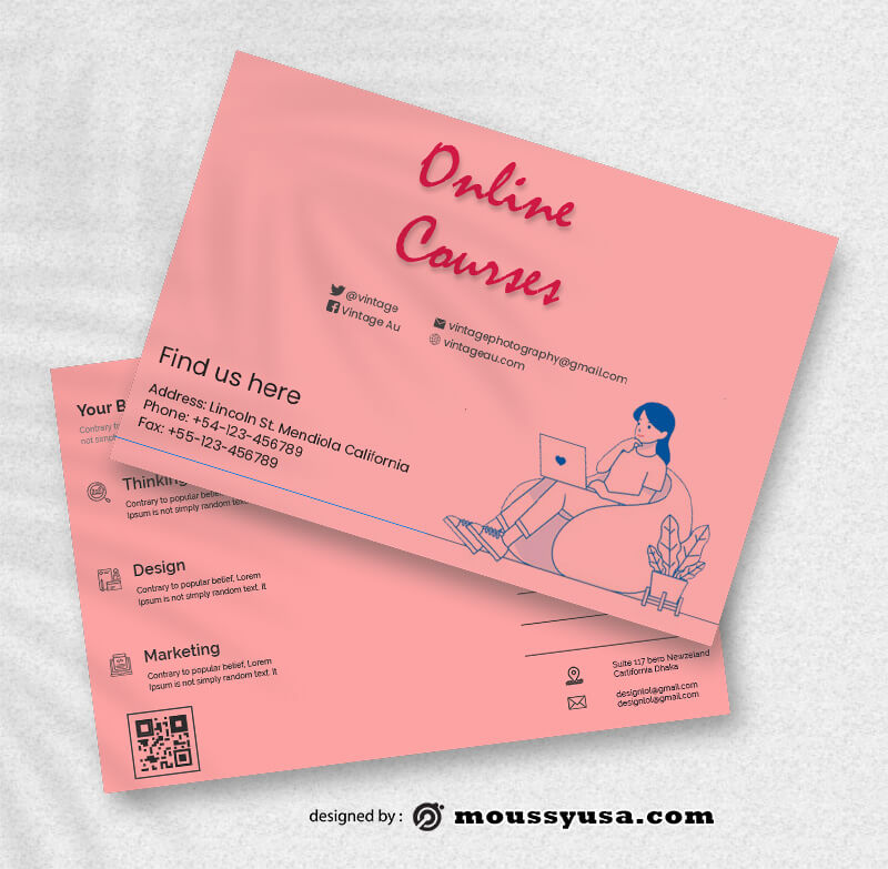 Coursus Postcard templates Ideas
