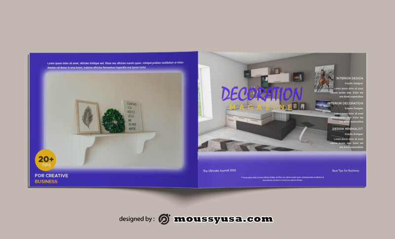 Decorating Magazine templates Design
