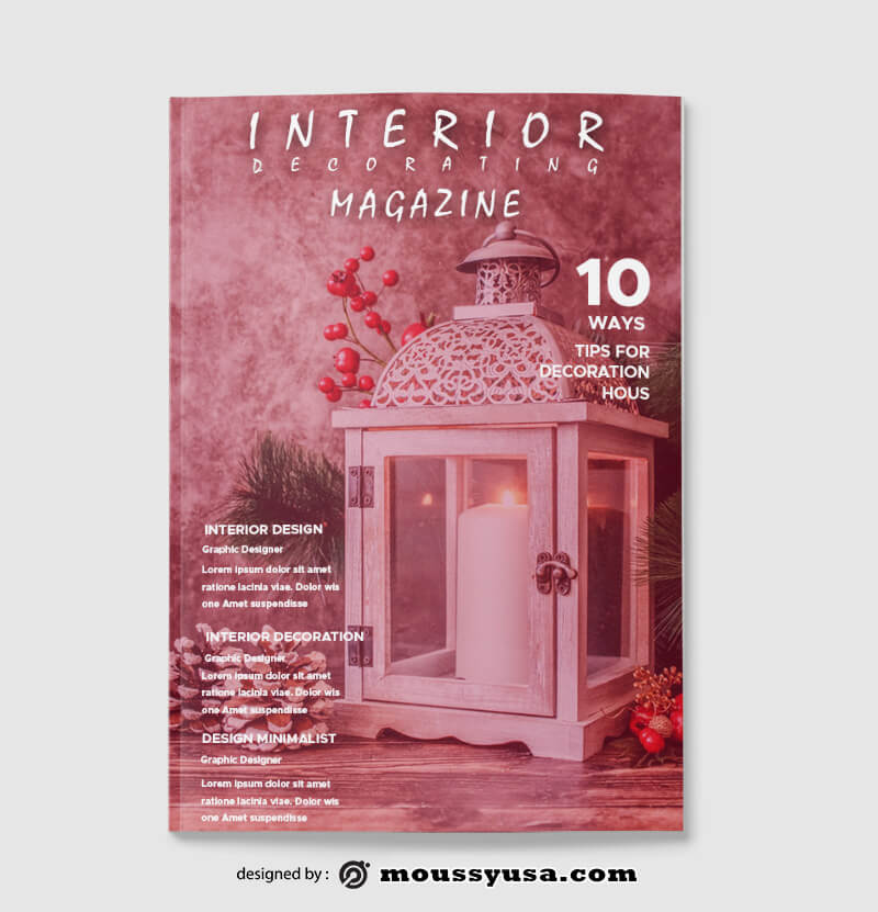 Decorating Magazine templates Ideas