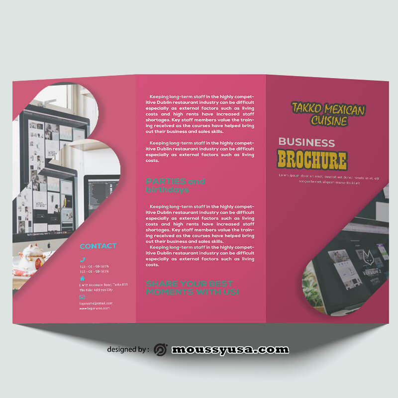 Design Company Brochure templates Example