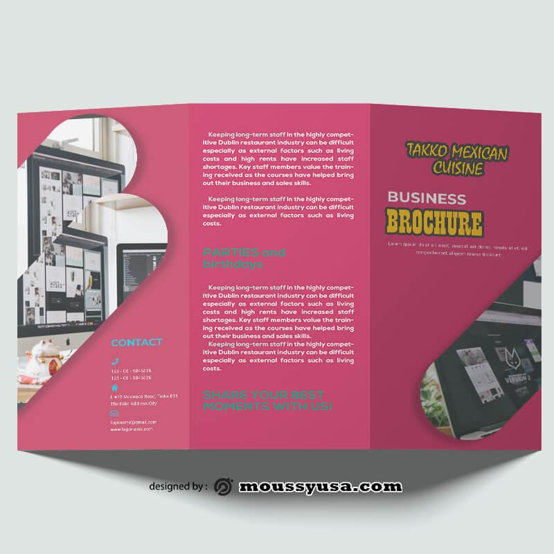 Design Company Brochure templates Example