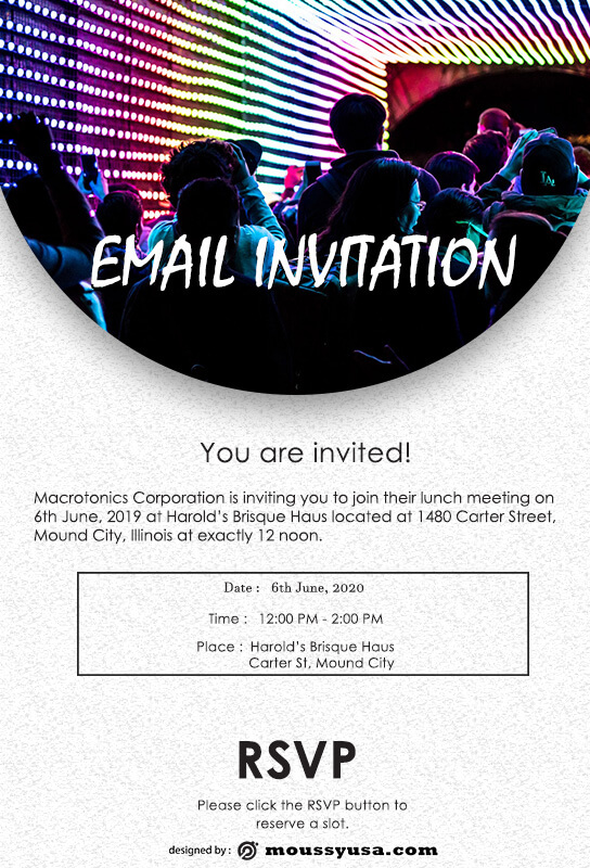 Email Invitation in photoshop free download