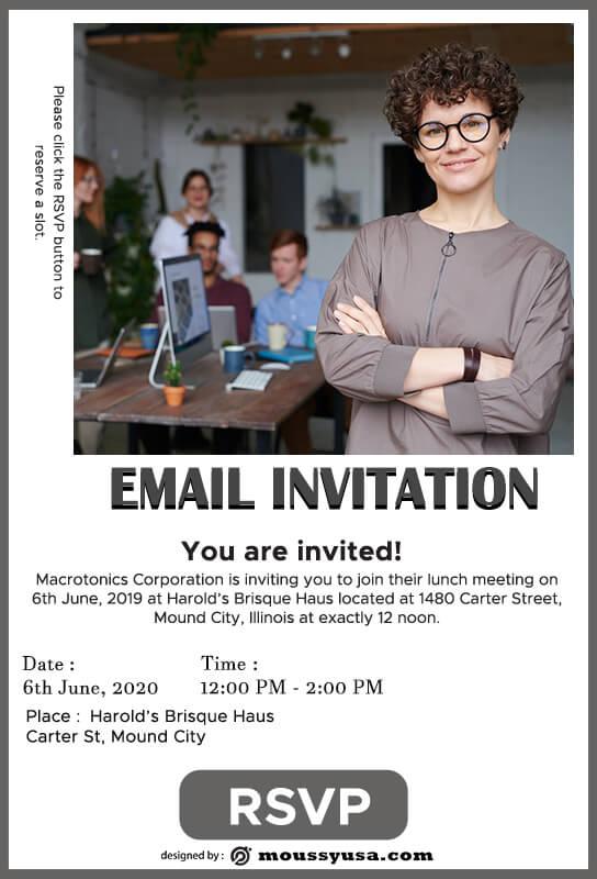 Email Invitation in psd design