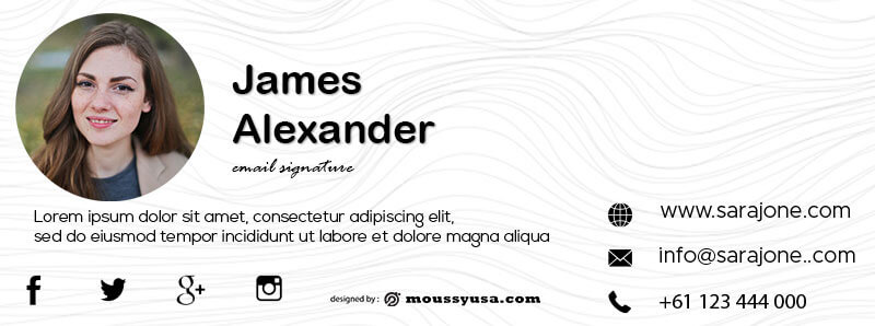Email Signature free download psd