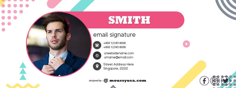 Email Signature in photoshop free download