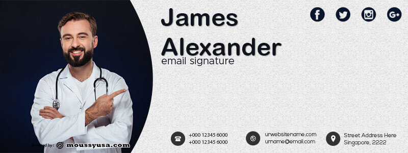 Email Signature template free psd