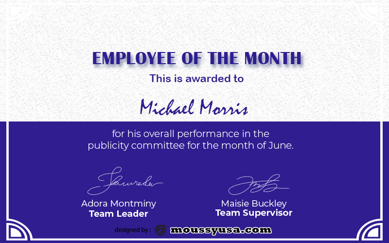 Employee of the Month in psd design