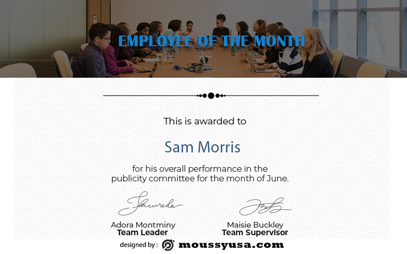 Employee of the Month psd templates
