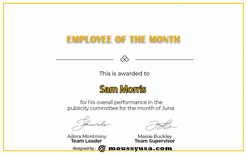 Employee of the Month psd