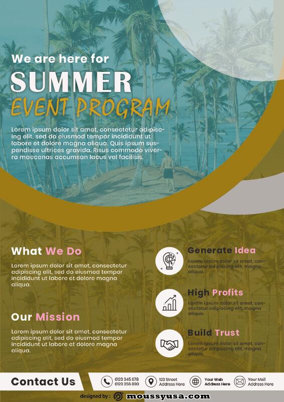 Event Program customizable psd design template