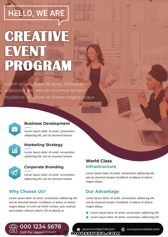 Event Program free download psd
