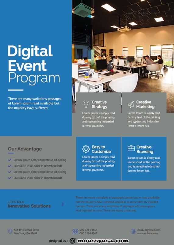 Event Program free psd template