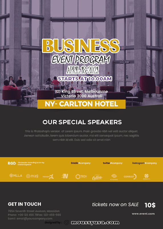 Event Program psd template free