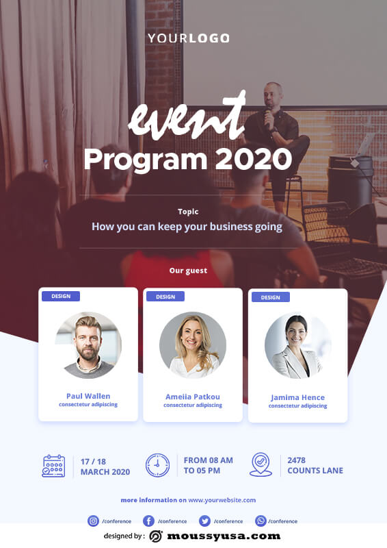 Event Program template for photoshop