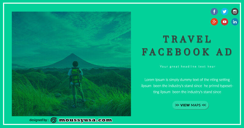 Facebook Ad psd template free