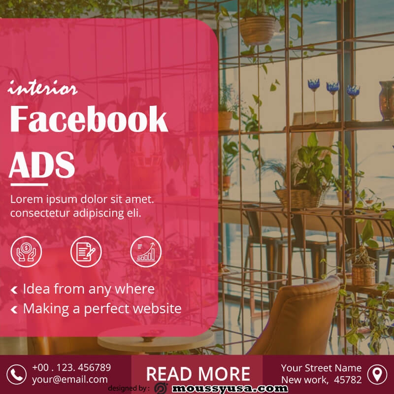 Facebook Ad template for photoshop
