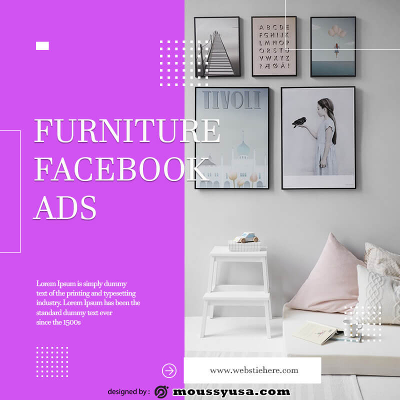 Facebook Ad template free psd