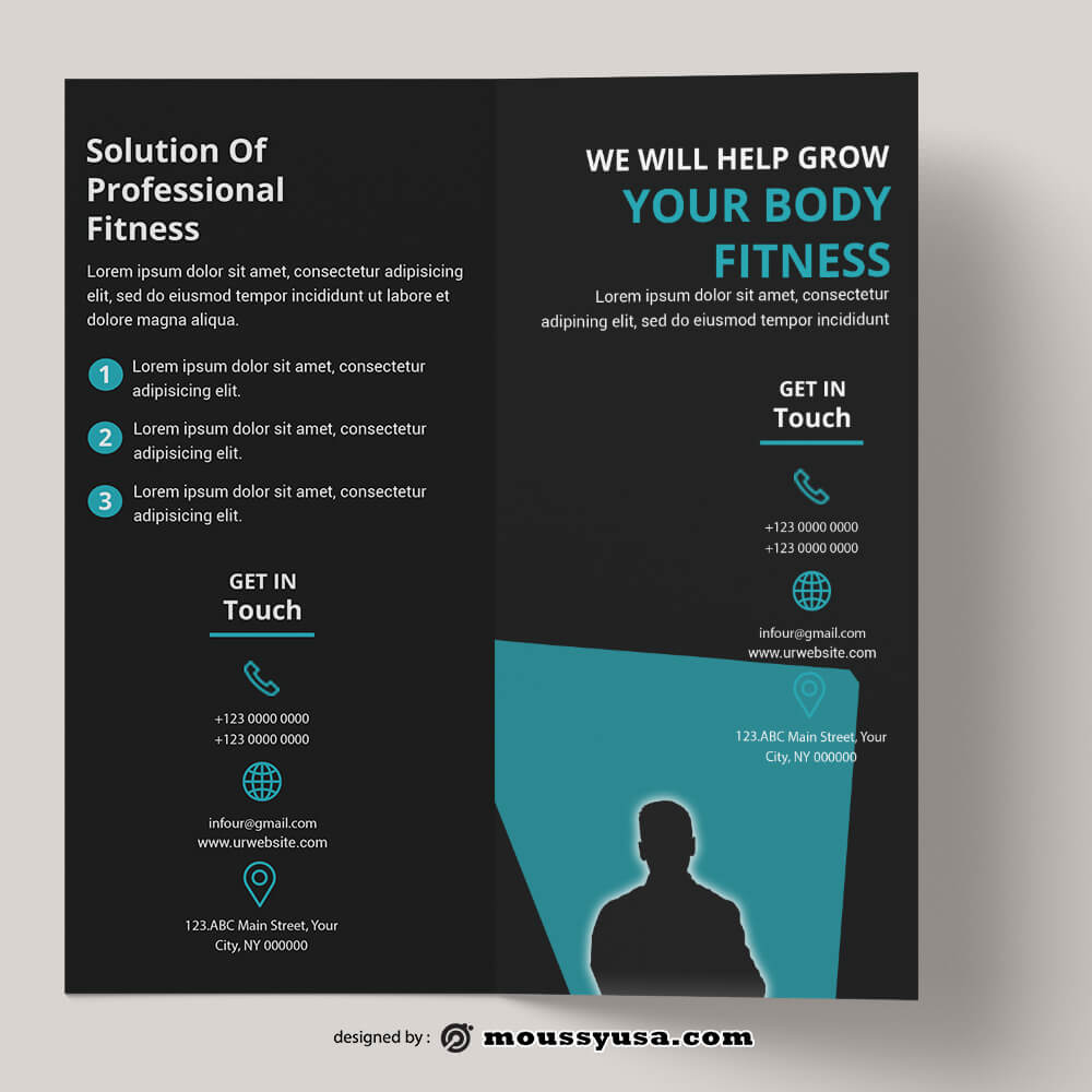 Fitness Brochure templates Design