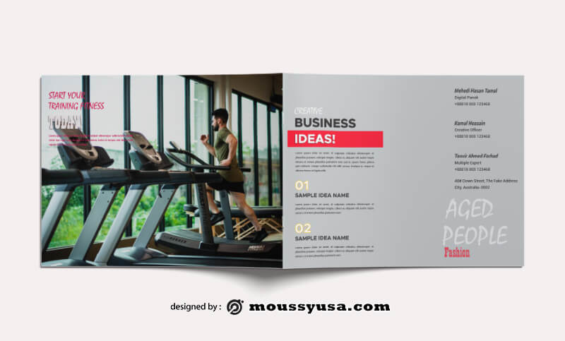 Fitness Magazine templates Design
