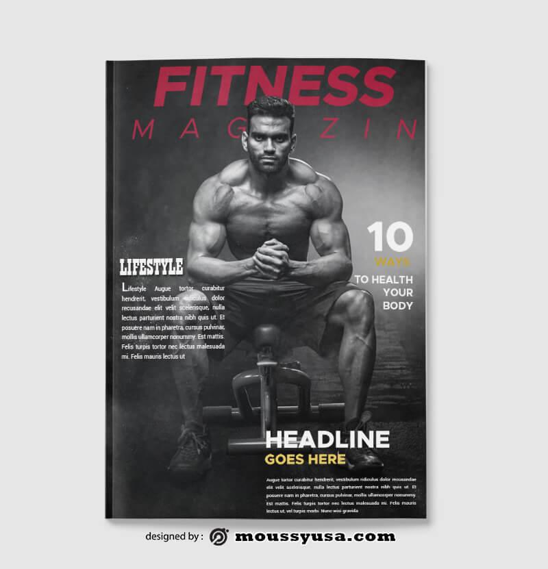 Fitness Magazine templates Ideas