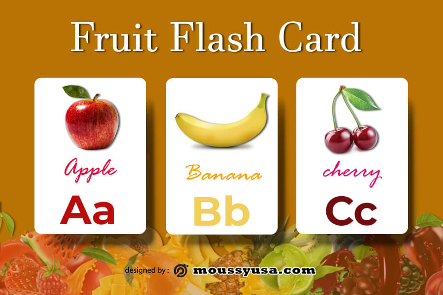 Flash Card example psd design