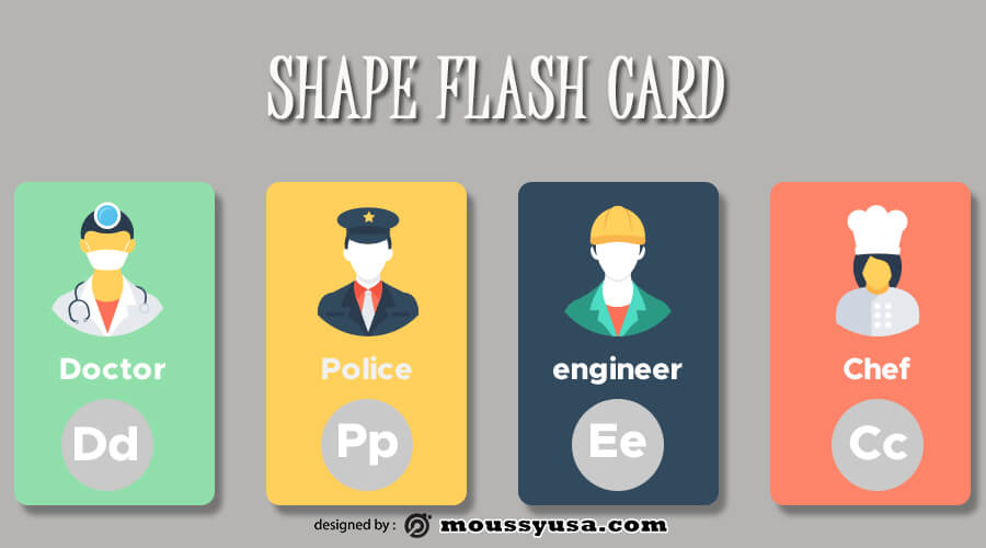 Flash Card in photoshop