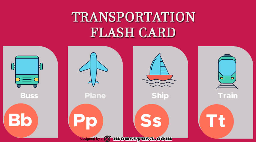 Flash Card in psd design