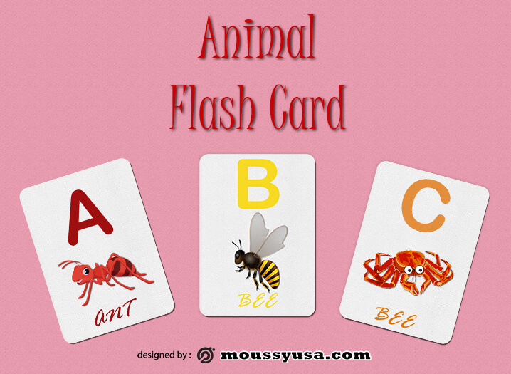 Flash Card psd template free