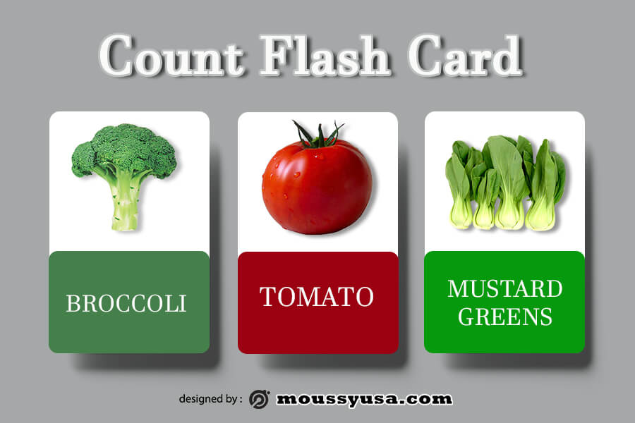 Flash Card template for photoshop