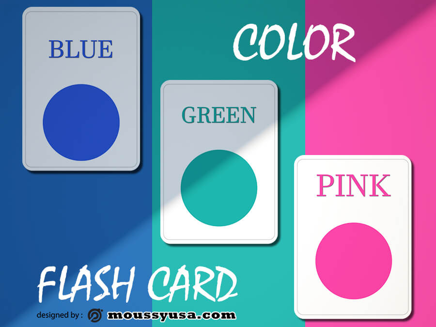 Flash Card templates psd