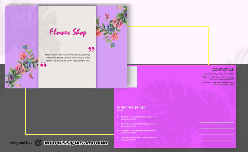 Flower Shop Postcard templates Sample