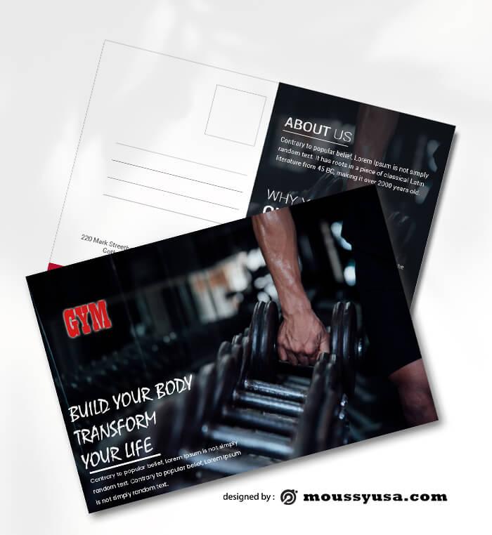 GYM Postcard PSD templates For