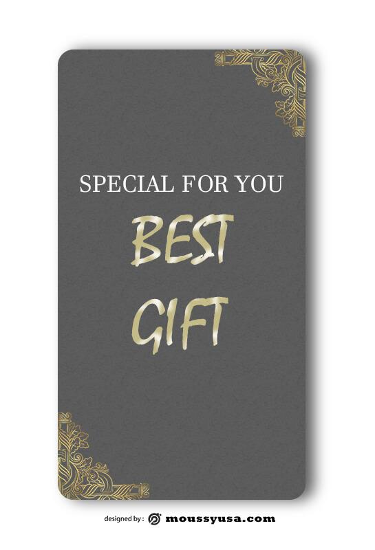 Gift Card example psd design