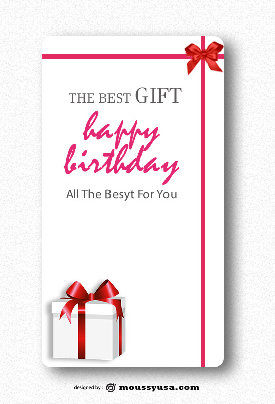 Gift Card psd template free