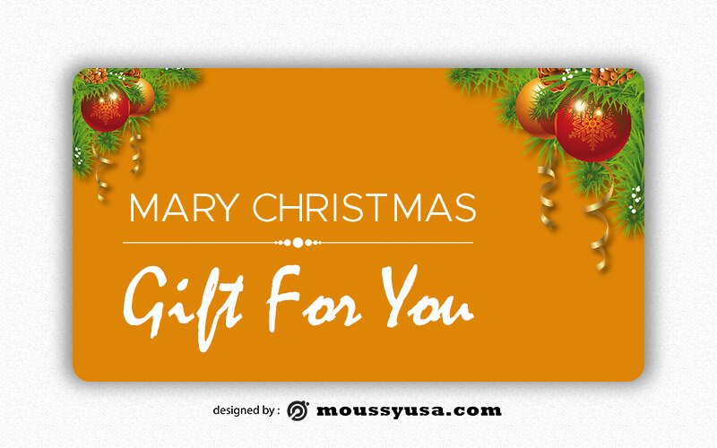 Gift Card template free psd
