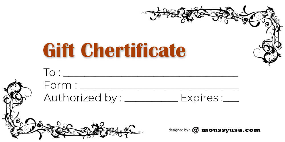 Gift Certificate Template customizable psd design template