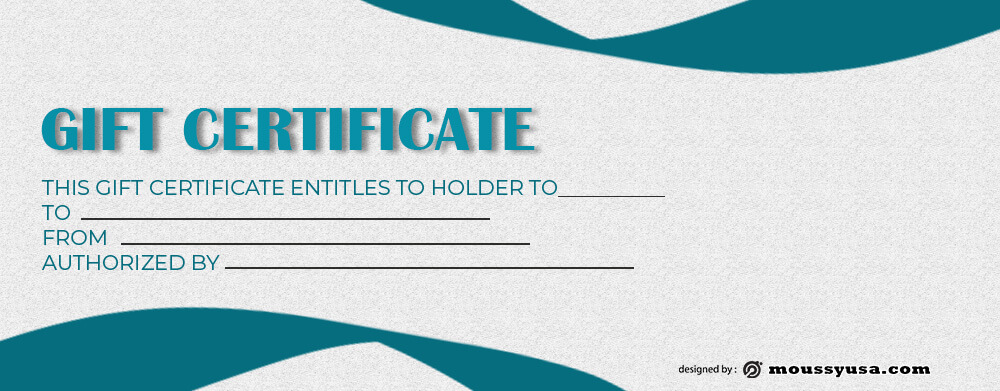 Gift Certificate Template example psd design
