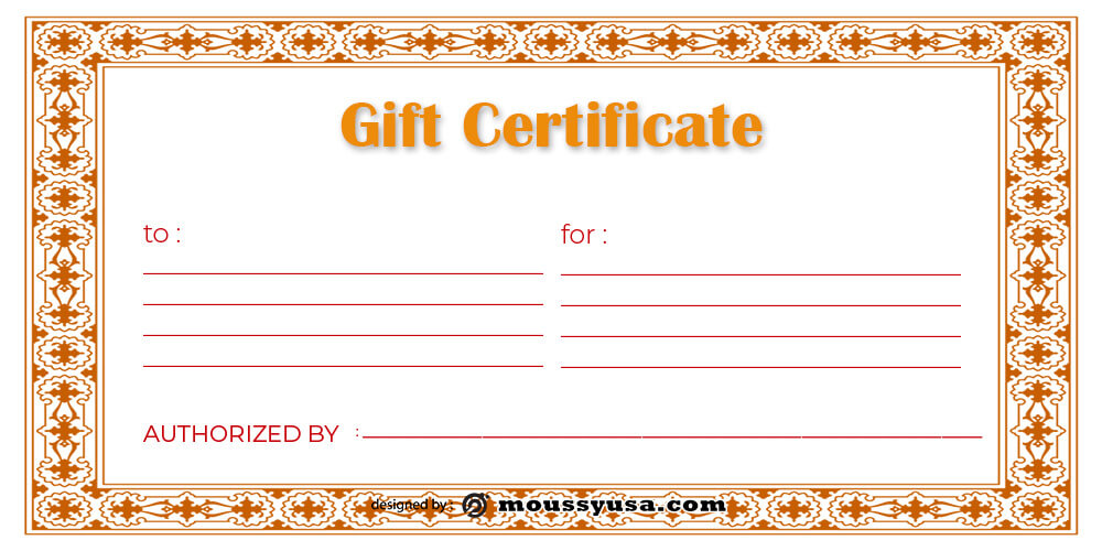 Gift Certificate Template free download psd