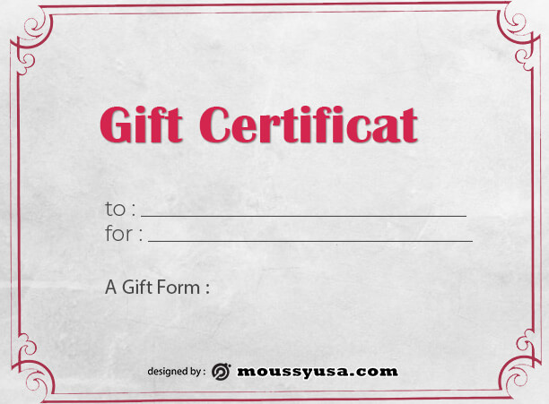 Gift Certificate Template free psd template