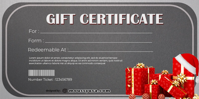 Gift Certificate Template in photoshop free download