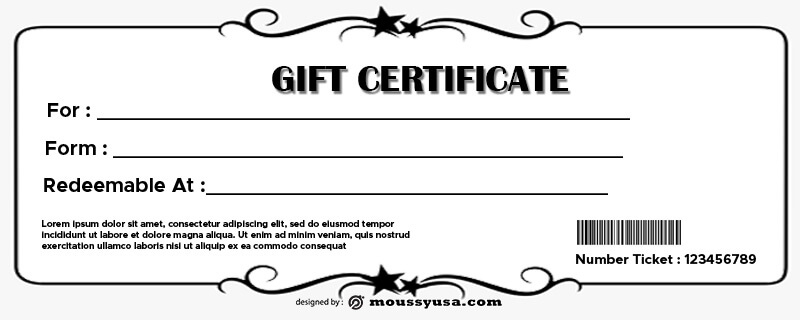 Gift Certificate Template in psd design