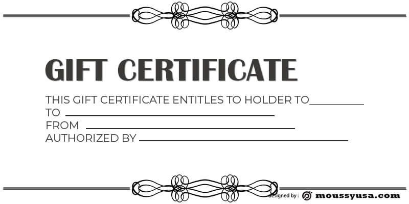 Gift Certificate Template template free psd