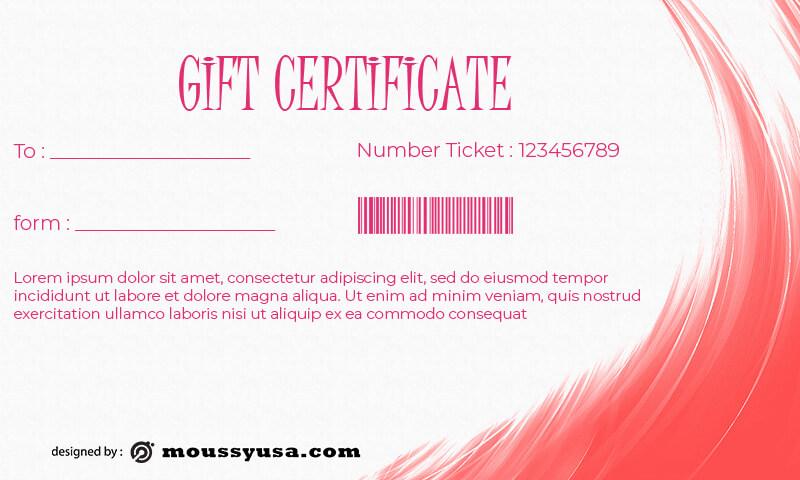 Gift Certificate customizable psd design template