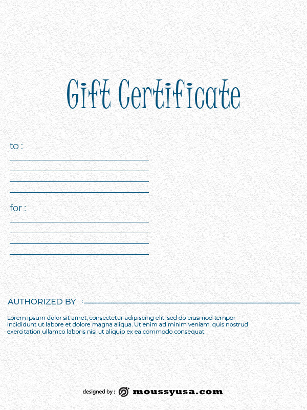 Gift Certificate free psd template