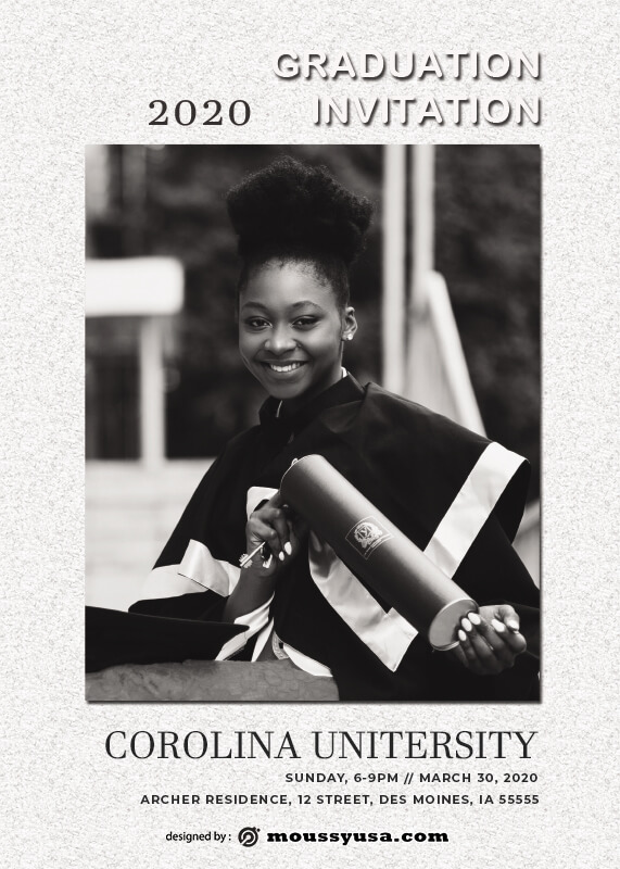 Graduation Invitation example psd design